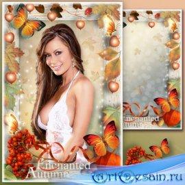 Рамка для фотошопа - Зачарованная осень