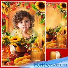 Рамка для фотошопа - Натюрморт с мёдом