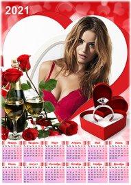 Календарь на 2021 год - Любящее сердце
