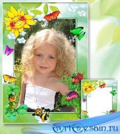 Рамка для детской фотографии - Маленькое солнышко