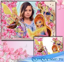 Рамка для детской фотографии - Феи клуба WINX_2