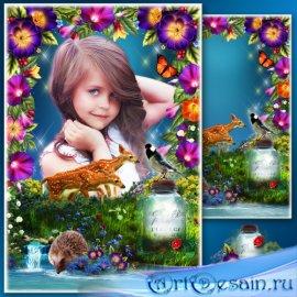 Цветочная рамка для фото - Сказочная тропа