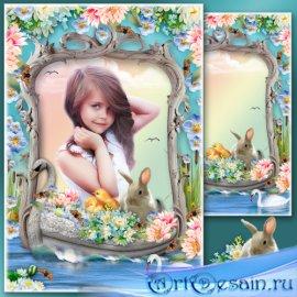 Цветочная рамка для фото - Сказочная ладья