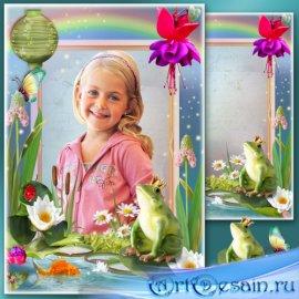 Детская рамка для фото - Царевна лягушка